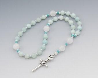 Anglican Prayer Beads - Christian Rosary - Holy Spirit - Sacred Heart - Item # 785