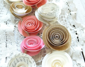 Wedding Garland  Paper Flower Garland- wedding decorations Paper Flowers