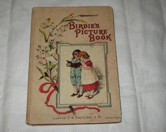 Victorian Children's Book BIRDIE'S PICTURE Book  ca. 1890s Petite Size