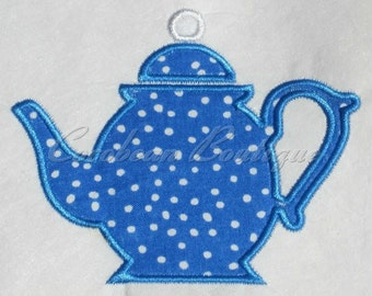 embroidery applique Teapot