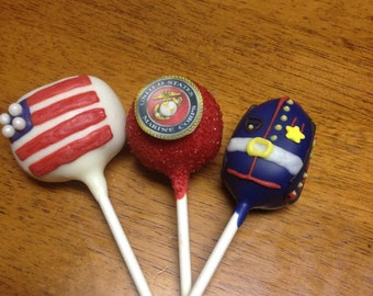 Marine Corps Cake Pops