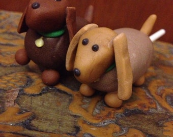 Wiener Dog Cake Pops