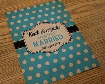 Spotty Themed Vintage Retro Wedding Invitations invite