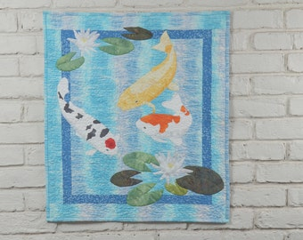 Koi Wall Quilt Pattern