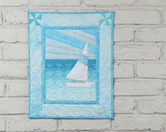 Sail Boat Wall Quilt Kit