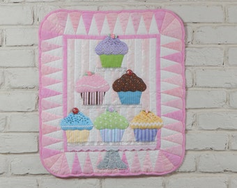 Cupcakes Wall Quilt Pattern