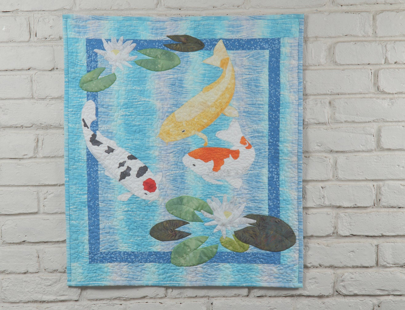 Koi wall quilt pattern for Koi pond quilt pattern
