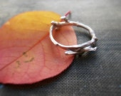 Twig Ring - Sterling Silver or 14K Gold Woodland Branch Cast - Wood Texture - Simple Natural Organic - Sizes 5, 6, 7, 8 Made to Order