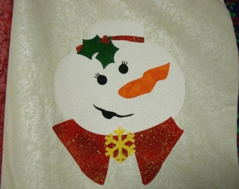 SNOWLADY GRANDMA Block KIT with Pre-cut Fabric Die Cut Applique w/iron-on fusible backing