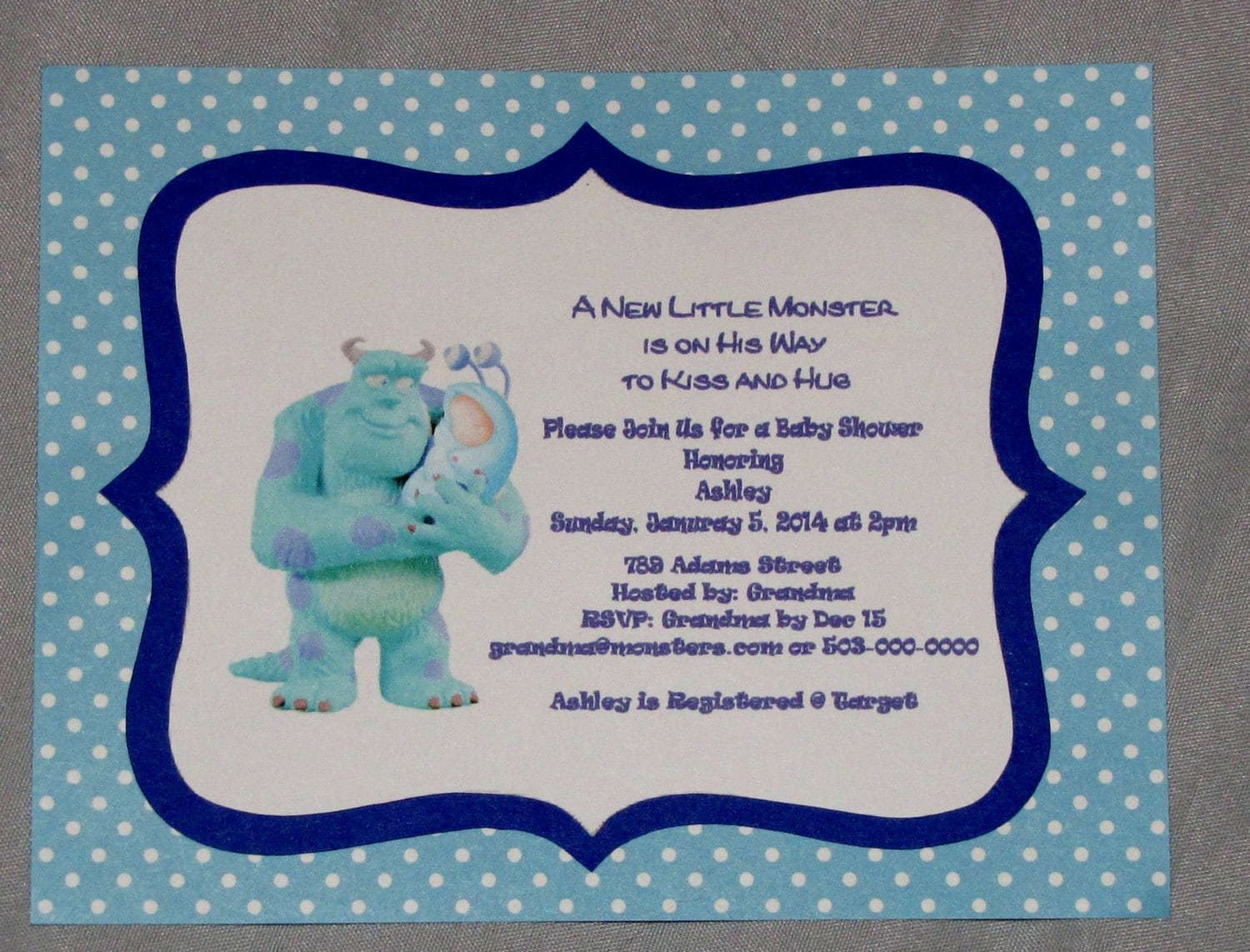 items similar to monster 39 s inc baby shower invitations boy 10 cards