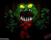 Nightmare Before Christmas Inspired Man Eating Wreath