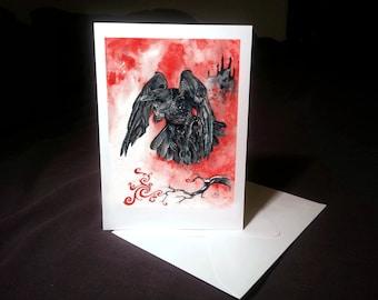 Note Card - The Gaoler, Blackbird, Clockwork Bird