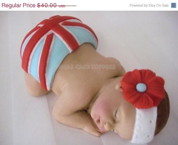 HOLIDAY SALE LONDON Flag Baby Shower Cake Topper 1st Birthday Uk