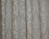 "CUSTOM DRAPERIES - A pair of Custom Curtains Traditions Cloud Linen  50"" wide X up to 84"" Long"