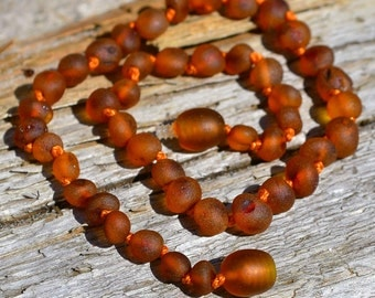 Genuine Baby Amber necklace - Handmade Baltic Amber Jewelry - Baby teething Necklace