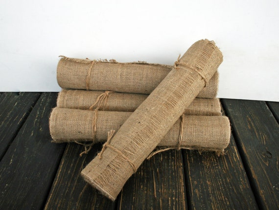 table runner 10 inch wide by 120 inch long burlap table