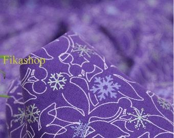 S A L E: Yard - Christmas Snowflake (4 Colors) 100% Cotton - Fikashop