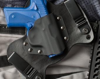Kimber Solo Black Leather Kydex Hybrid Gun Holster IWB