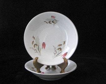 Pair of Royal Duchess Mountain Bell Dessert Bowls GORGEOUS Vintage 1940s