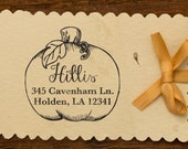 Harvest- Personalized Wooden Stamp - Address - Holidays - FREE SHIPPING