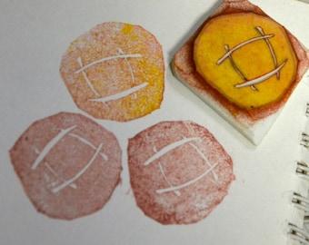 Bread-Handmade unmounted Rubber stamp