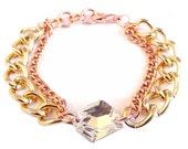 Crystal Statement Bracelet swarovski rose gold statement jewelry RAY OF LIGHT