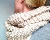 Hand Knit, all natural 100% alpaca  infinity scarf. Made from our alpacas