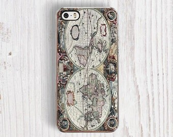 Classic World Map iPhone 5/5S Case - iPhone 4/4S case