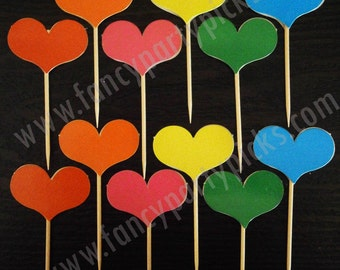 Party Picks, Fruit Picks, Party Toothpicks, Cupcake Topper, Cake decoration, Appetizer Picks (#501)