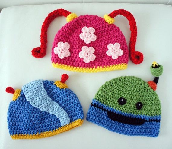 Free Crochet Pattern Umizoomi : Team Umizoomi Hats Milli Geo Bot Crochet Baby Hat Baby