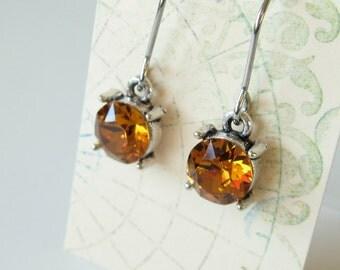 Swarovski crystal earrings Topaz