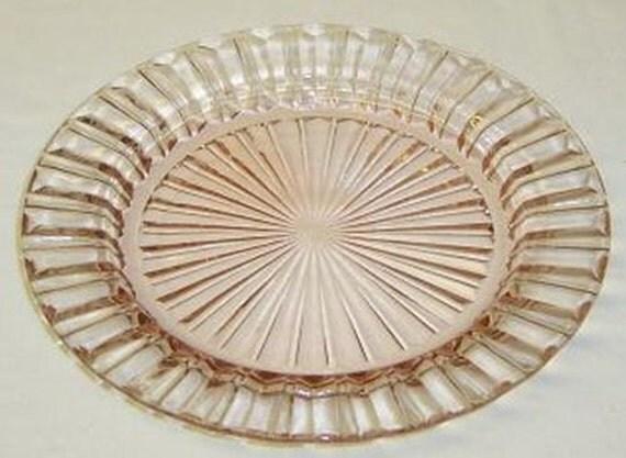 Hocking Pink FORTUNE Depression Glass 6 5/8 Inch Dessert or Salad Plate