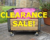 Clearance Sale . . . . Cat Bed. Dog Bed. Pet Bed. Wooden 1959 Milk Crate. OOAK Antique