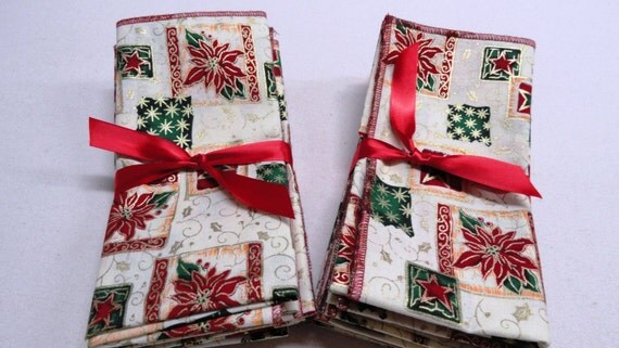"Set of 6 christmas napkins 15""x 15"".Eco friendly.Dinner napkins. Great gift."