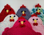 Crochet Pattern for the Swanky Chicken Trivet Potholder PDF Instant Download Permission to Sell Finished Items