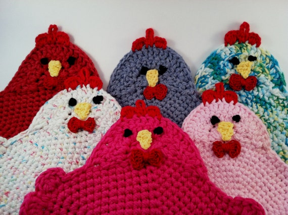 Crochet Pattern for the Swanky Chicken Trivet Potholder PDF