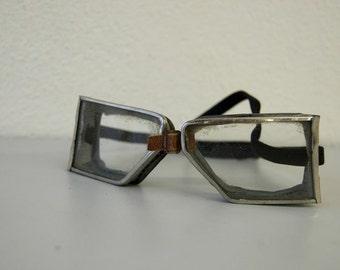 Vintage Safety Aviator Goggles Biker Glasses or Steampunk
