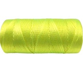 Neon Yellow - Crochet Thread - Nylon Cord (not waxed) - Macrame String