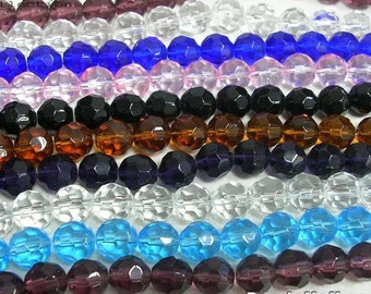 Glass Beads Wholesale Beads Assorted Beads 10mm Beads Beads In Bulk-10 Strands