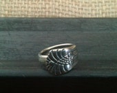 Spoon Ring Silver Plate Jewelry Vintage Flatware Size 5