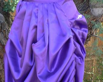 Victorian Bustle Steampunk  Satin Overskirt Costume Skirt