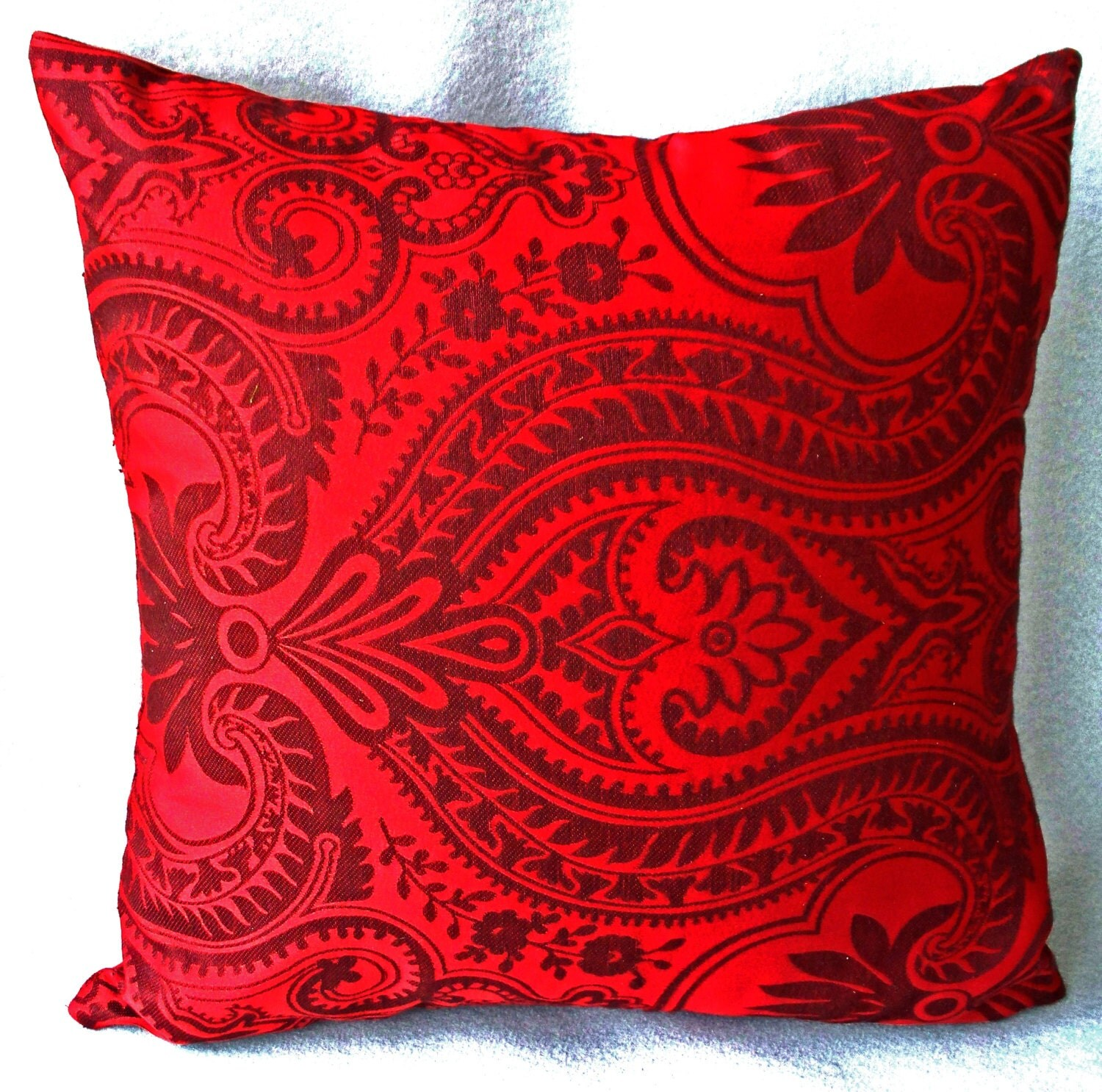 Red pillow Red pillow cover floral throw decorative Pillows