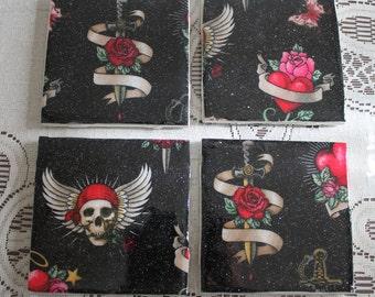 Coasters - Tile - Skulls