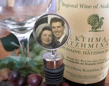 Personalized Wine Stopper - Old Photo - Anniversary Gift - Wedding Gift