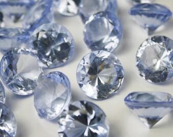 Diamond Confetti Table Decoration - 30 Carat Extra Large - 150 Pieces - Ice Blue