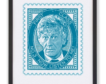 No.3 Now Listen To Me! - 50 x 40cm Doctor Who Stamp Print