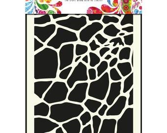 Giraffe Mask - Stencil - Dutch Doobadoo - A5 - Mixed Media - Altered Art - Laser Cut Plastic - Animal Print