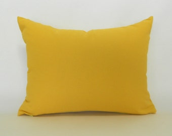 CLEARANCE SALE Corn Yellow Lumbar Pillow Decorative Pillow Cover Yellow Pillow Premier Prints Solid Yellow