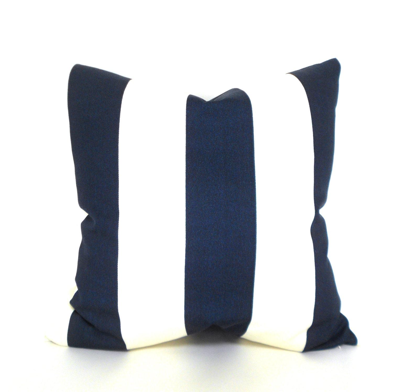 Decorative Pillow Measurements : Pillow Covers ANY SIZE Decorative Pillow Cover Navy Pillow