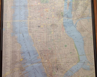 July 1964 National Geographic Map of Manhattan